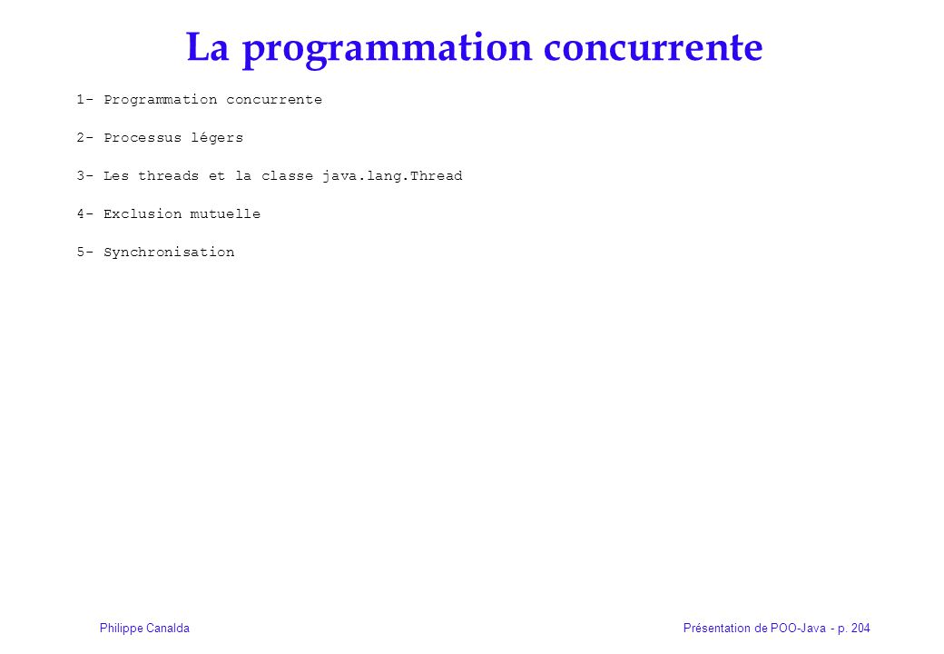 La programmation concurrente