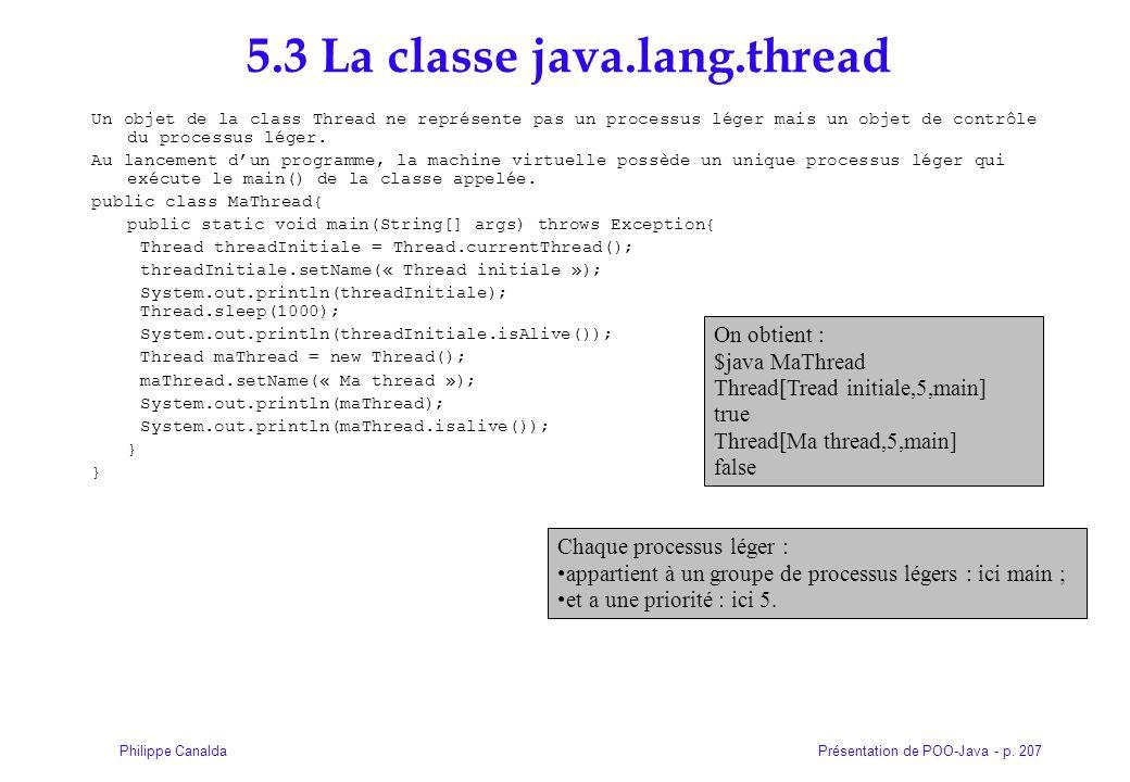 5.3 La classe java.lang.thread