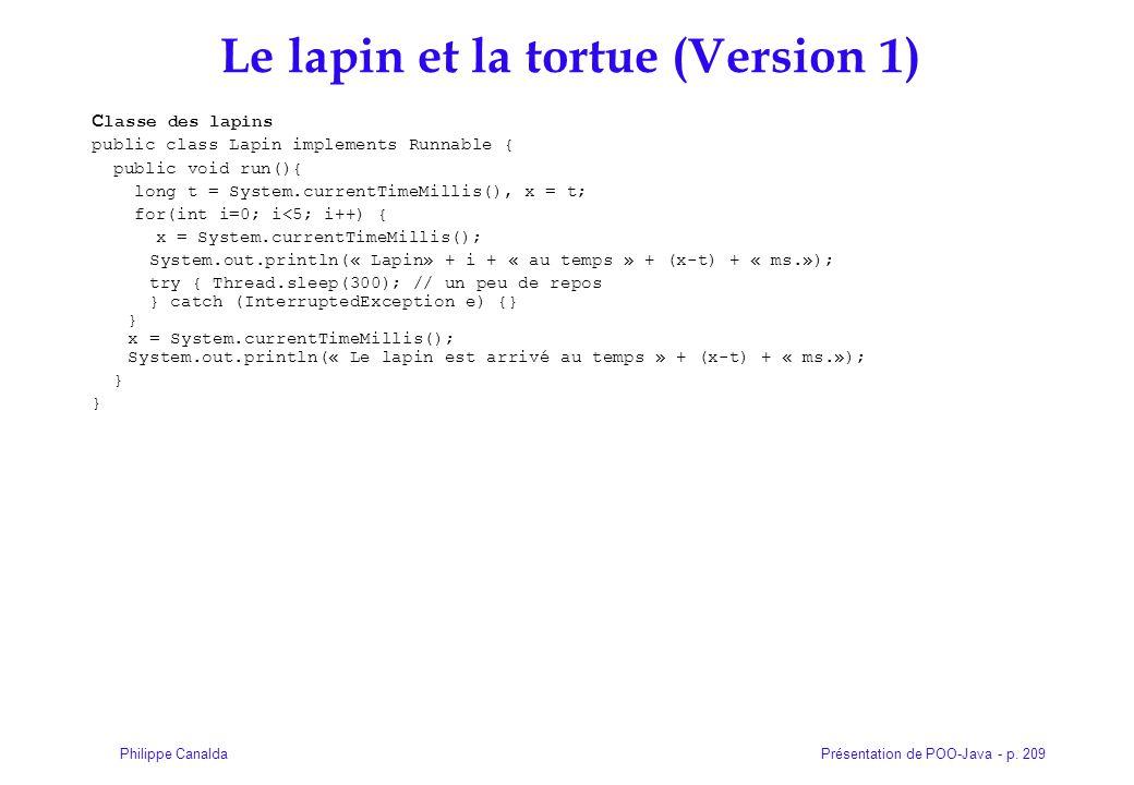 Le lapin et la tortue (Version 1)