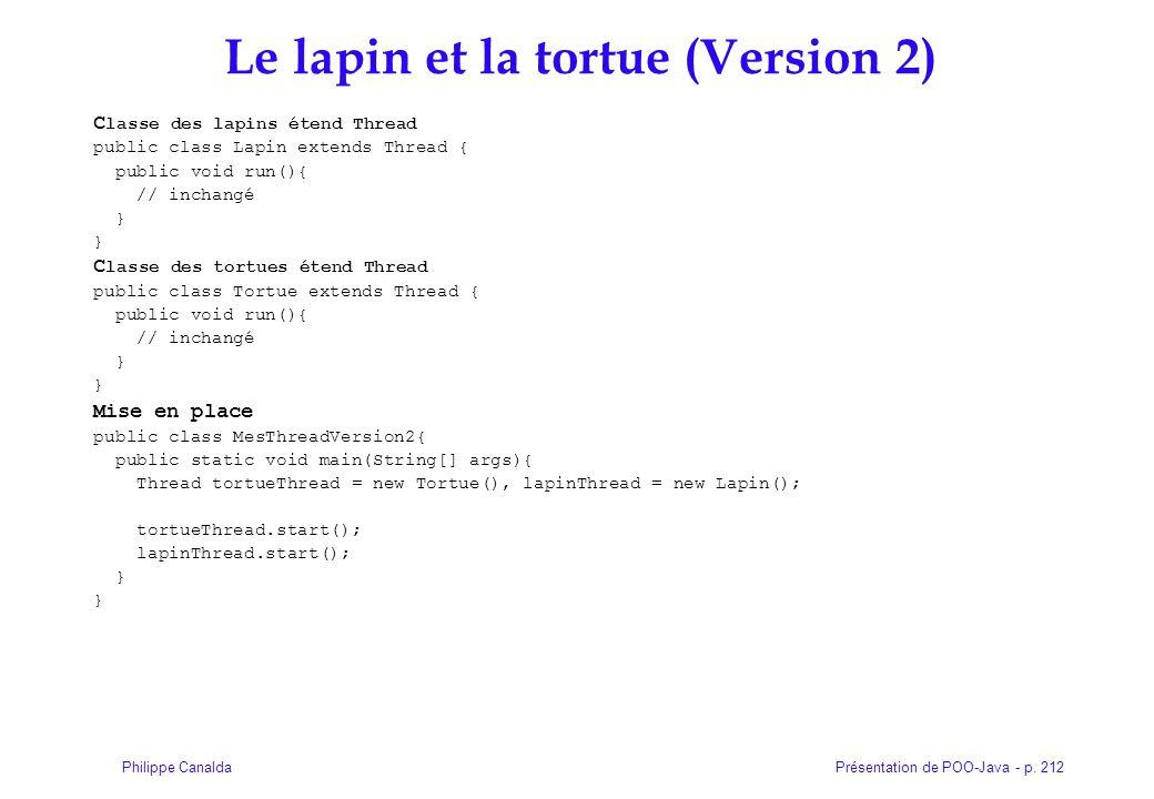 Le lapin et la tortue (Version 2)