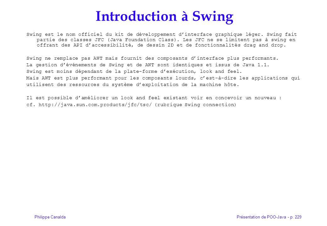 Introduction à Swing