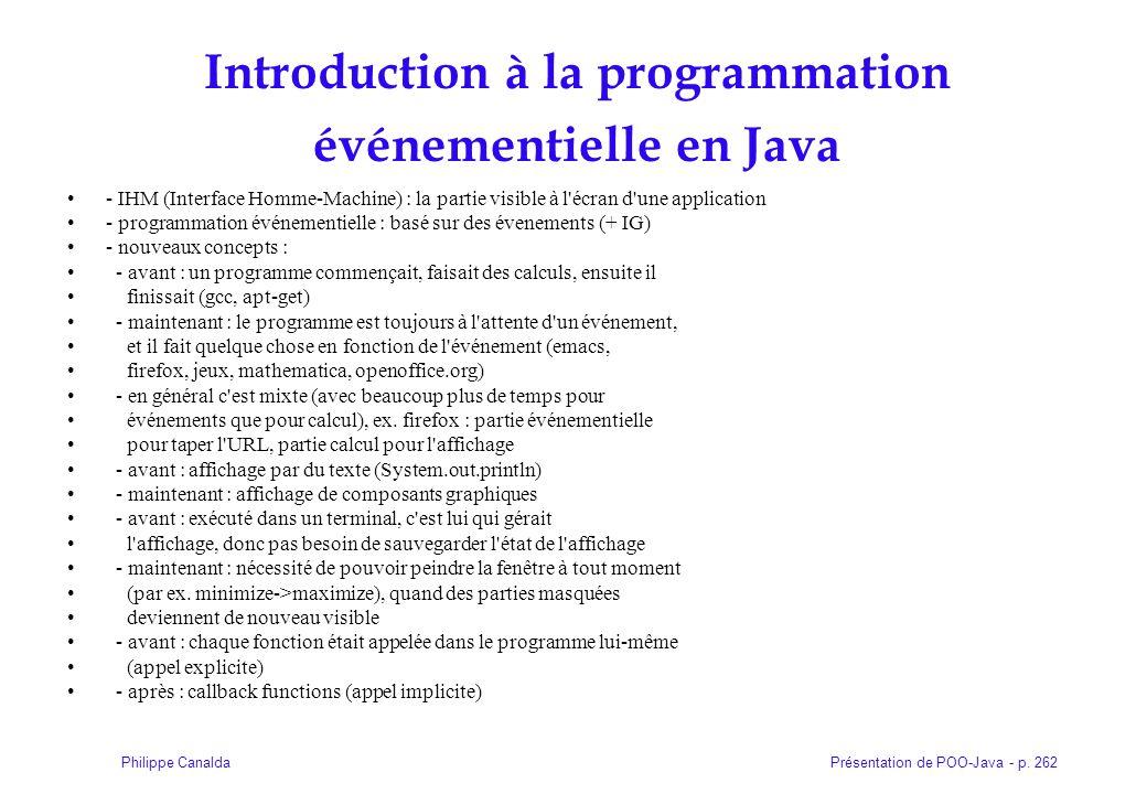 Introduction à la programmation événementielle en Java