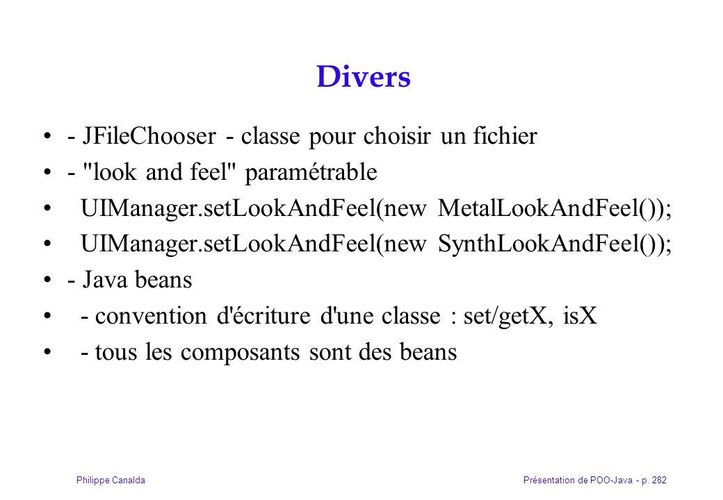 Divers - JFileChooser - classe pour choisir un fichier