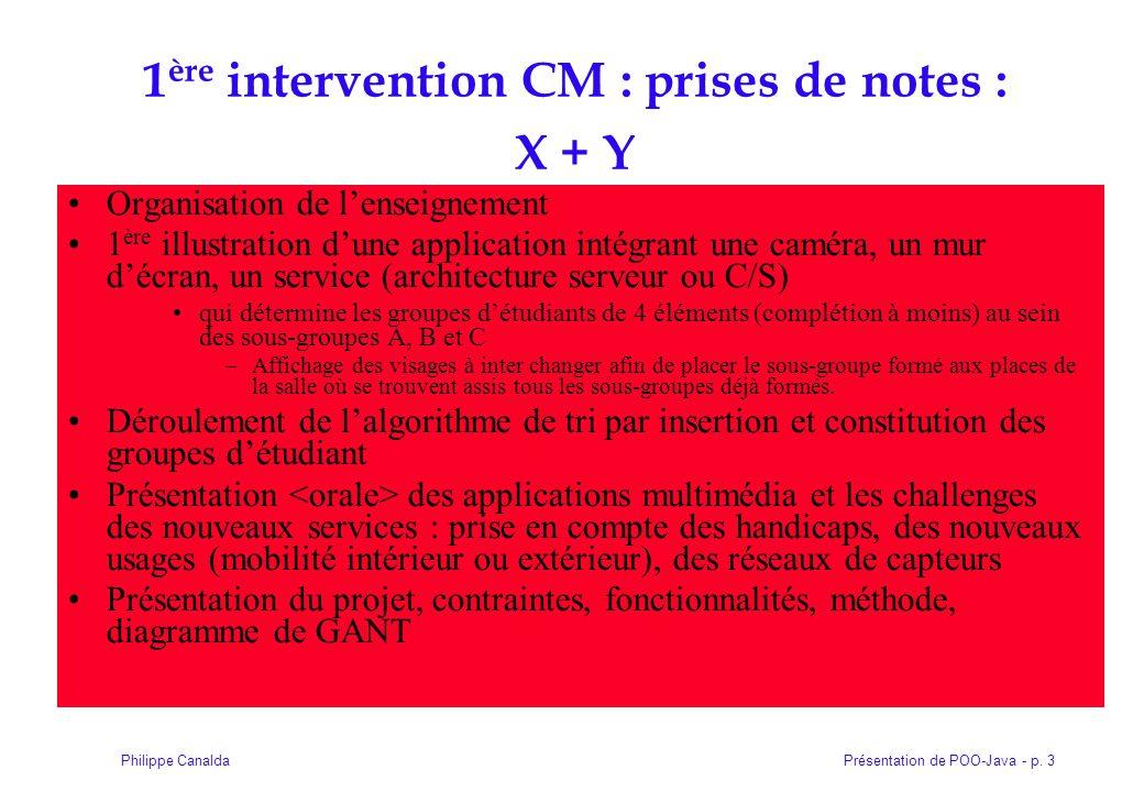 1ère intervention CM : prises de notes : X + Y