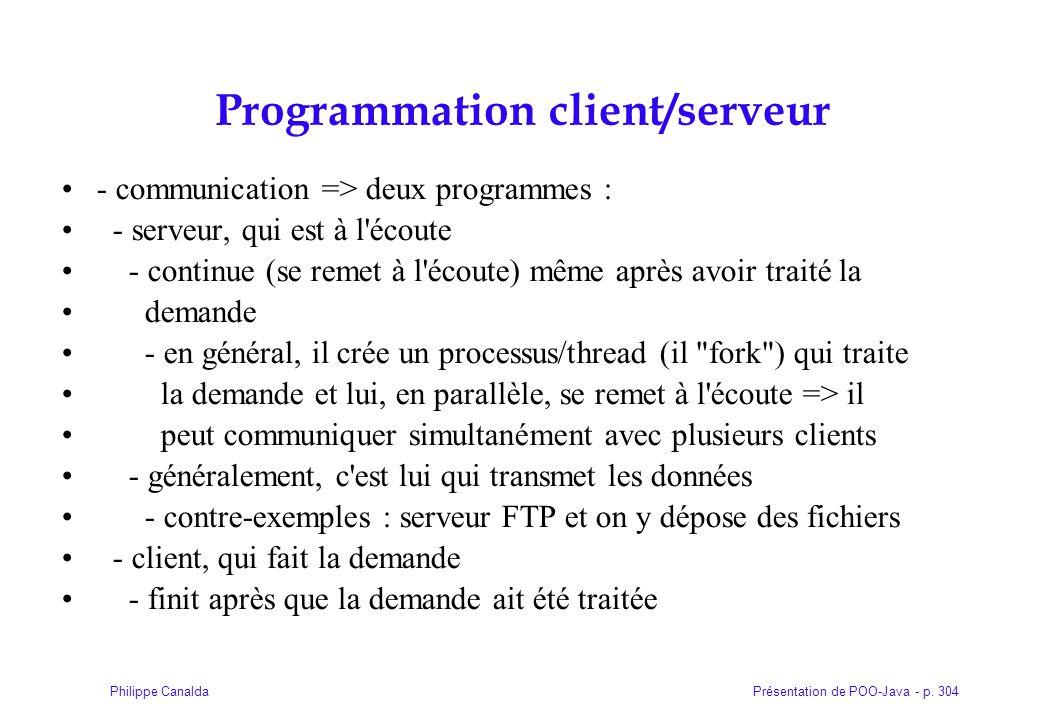 Programmation client/serveur