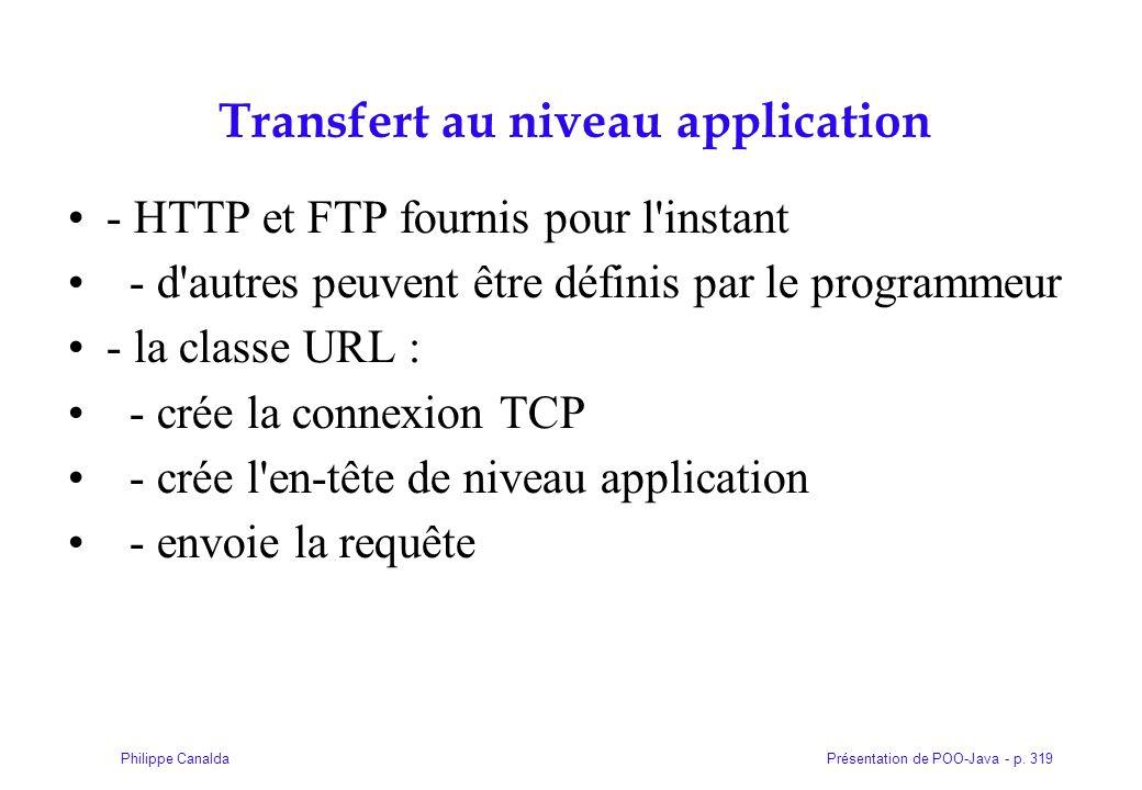 Transfert au niveau application