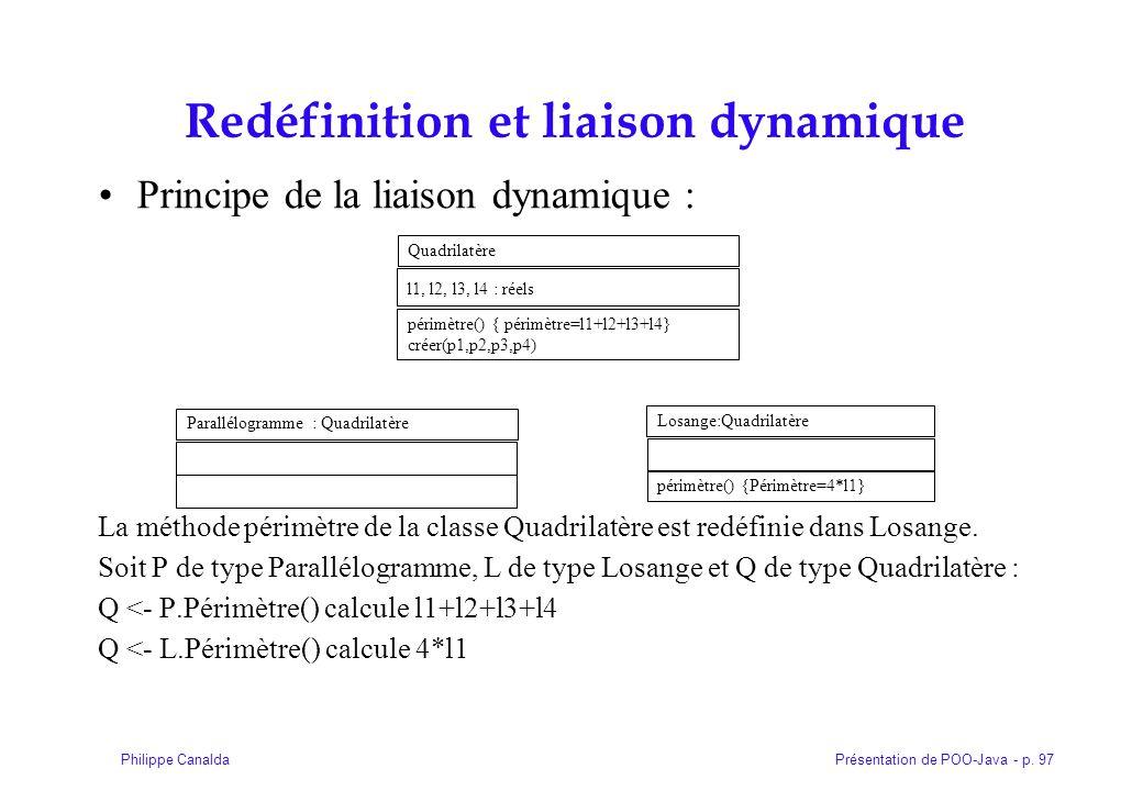 Redéfinition et liaison dynamique