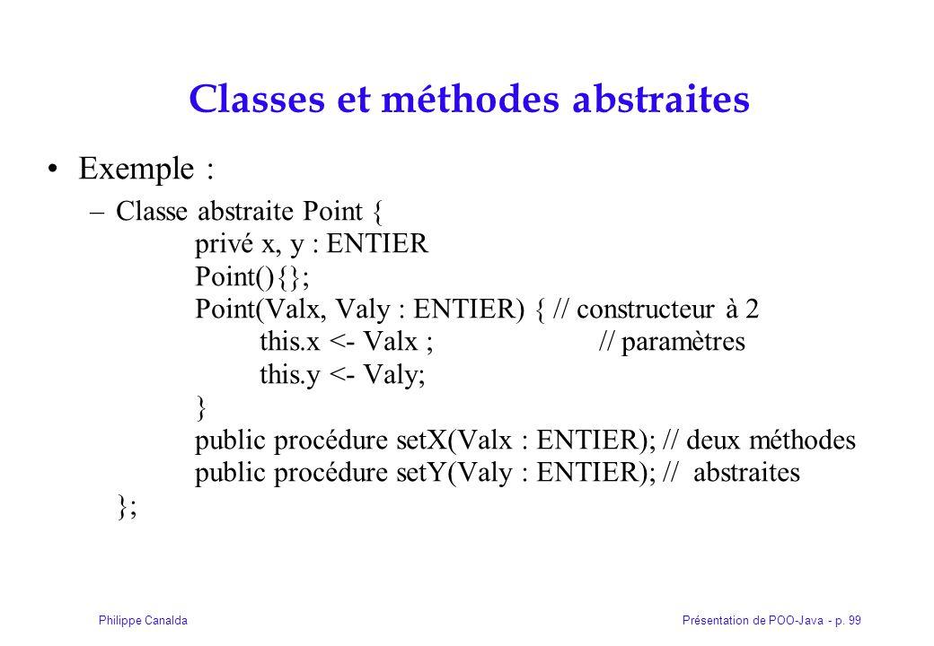 Classes et méthodes abstraites