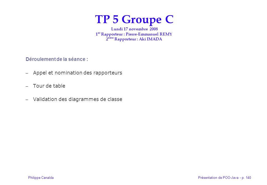 TP 5 Groupe C Lundi 17 novembre 2008 1er Rapporteur : Pierre-Emmanuel REMY 2eme Rapporteur : Aki IMADA