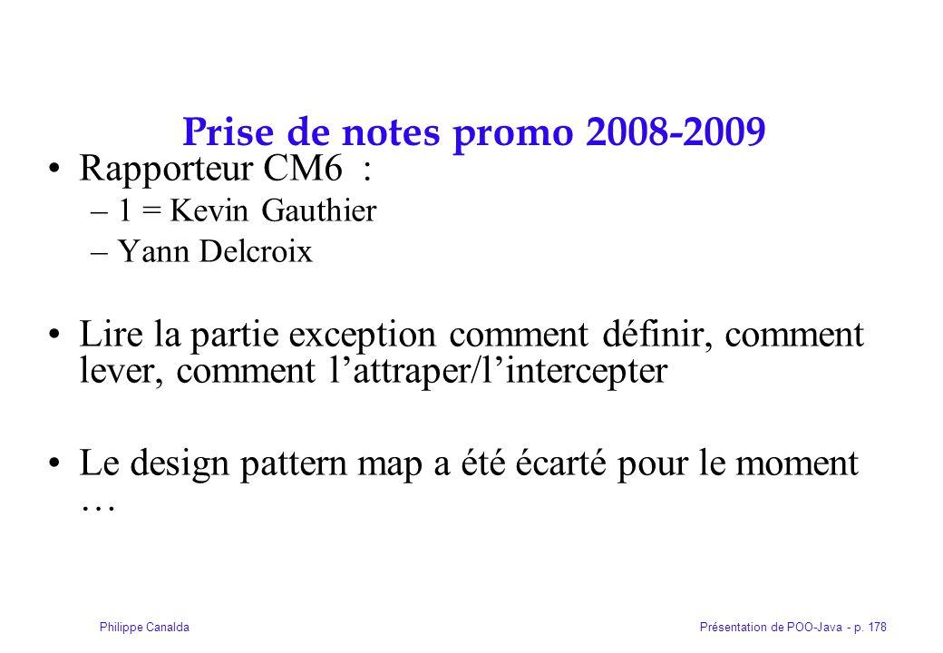 Prise de notes promo 2008-2009 Rapporteur CM6 :