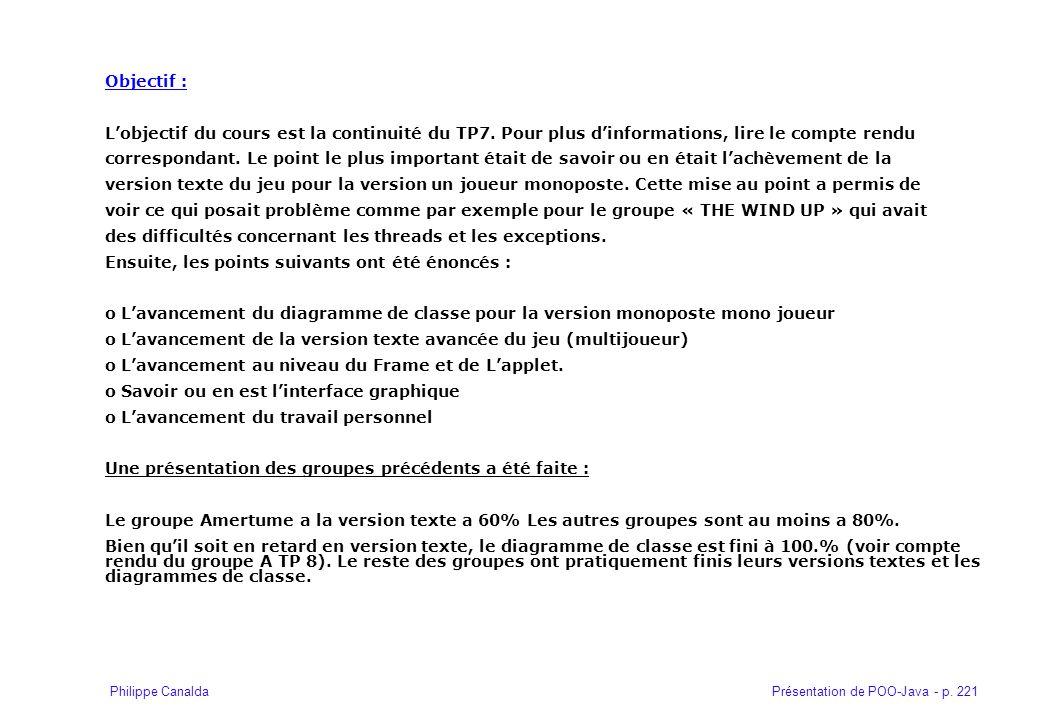Objectif : L'objectif du cours est la continuité du TP7. Pour plus d'informations, lire le compte rendu.
