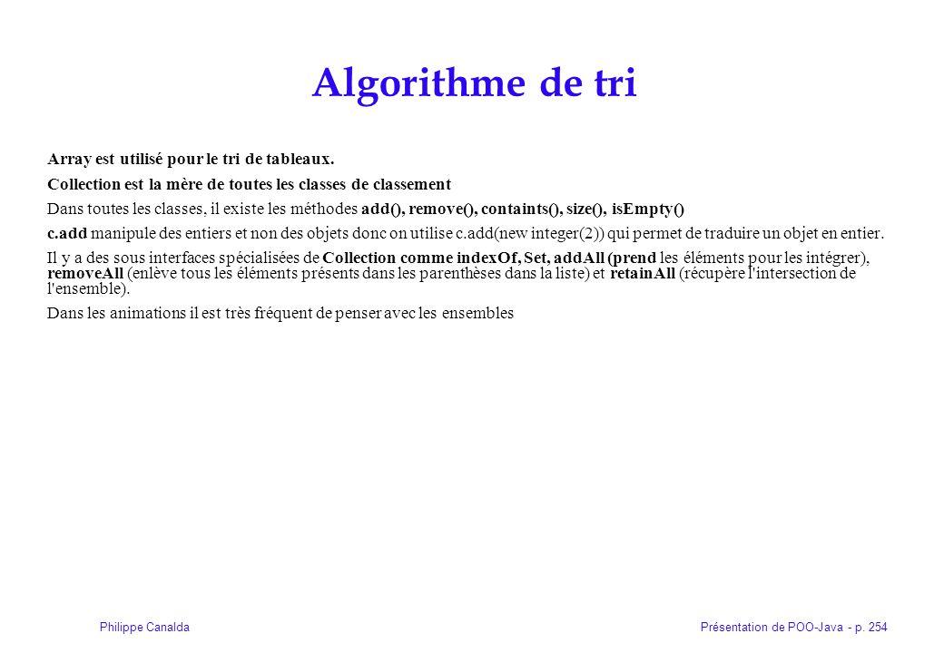 Algorithme de tri