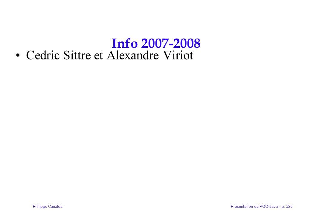 Info 2007-2008 Cedric Sittre et Alexandre Viriot