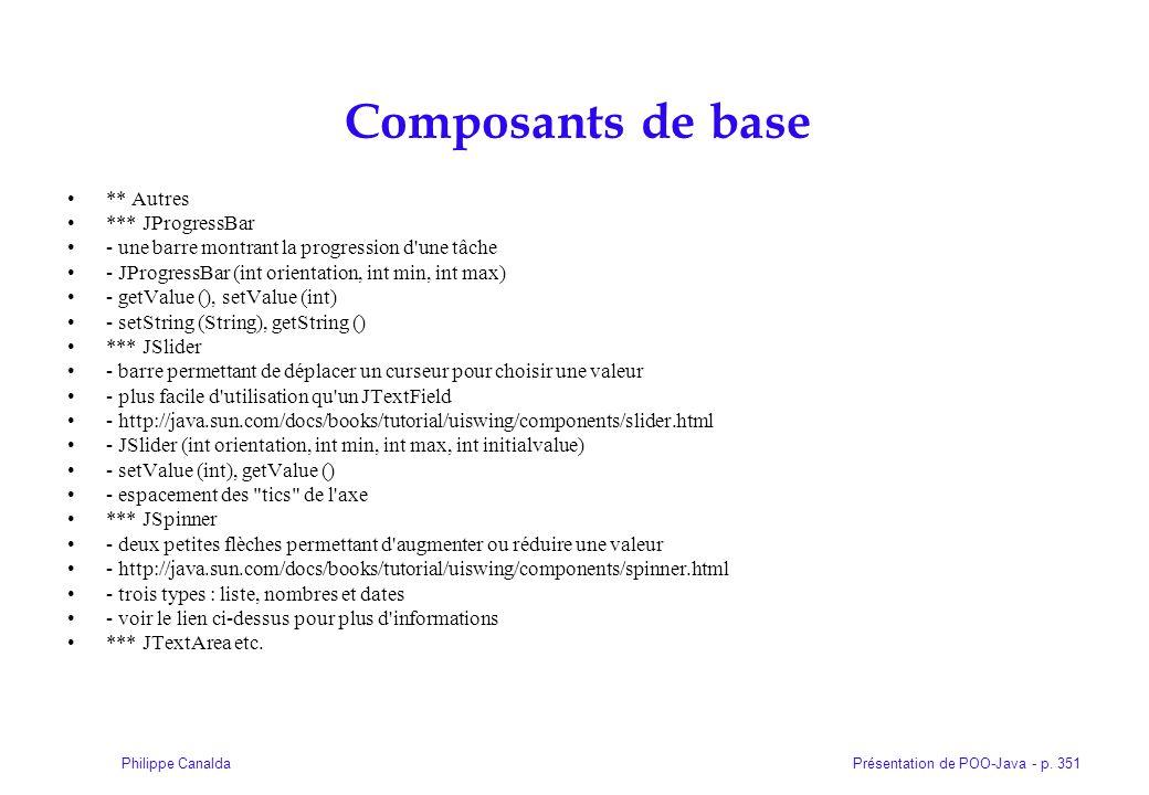 Composants de base ** Autres *** JProgressBar