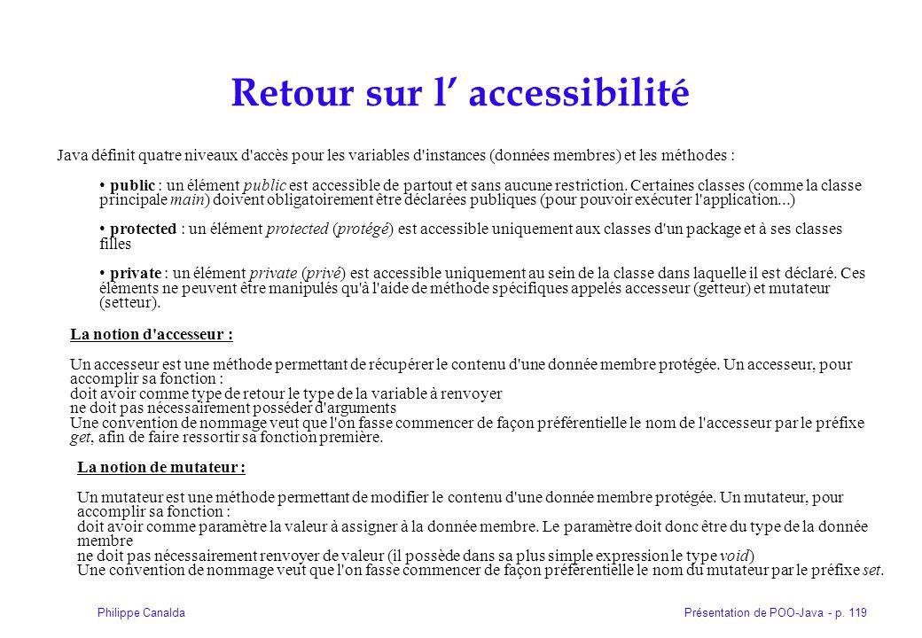 Retour sur l' accessibilité