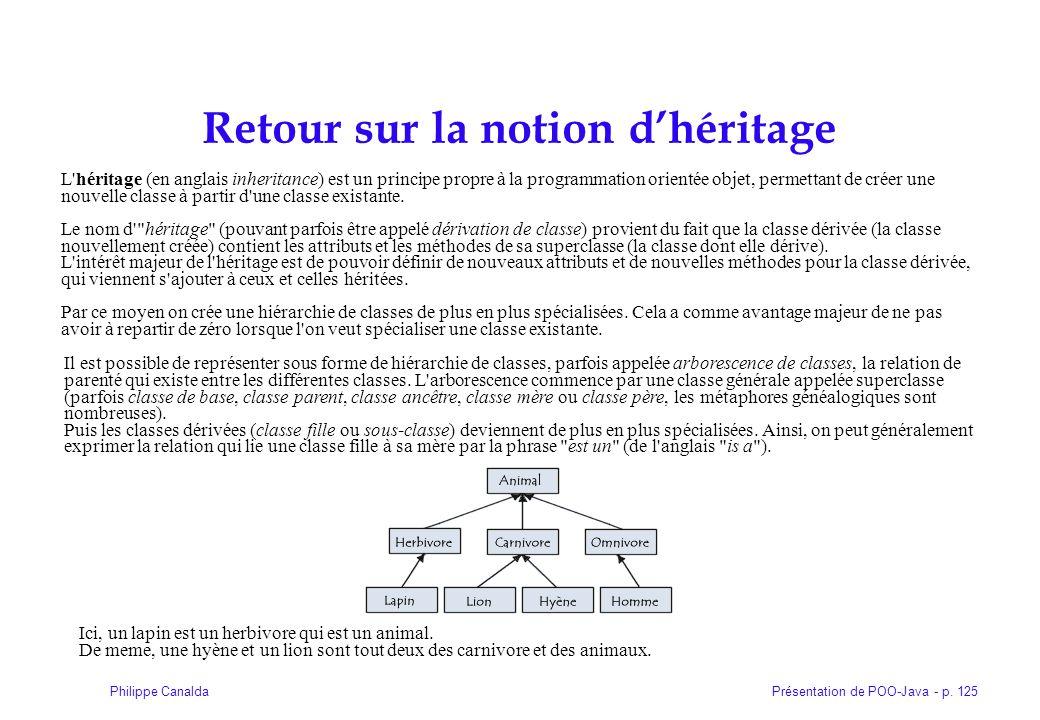 Retour sur la notion d'héritage