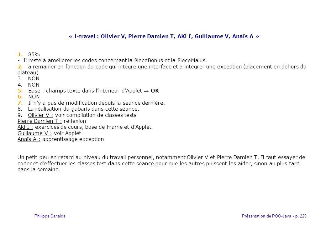 « i-travel : Olivier V, Pierre Damien T, AKi I, Guillaume V, Anaïs A »