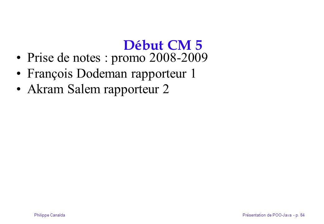Début CM 5 Prise de notes : promo 2008-2009
