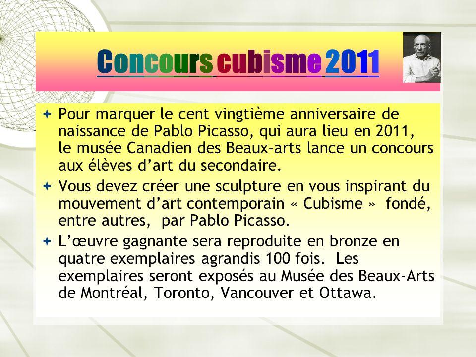 Concours cubisme 2011