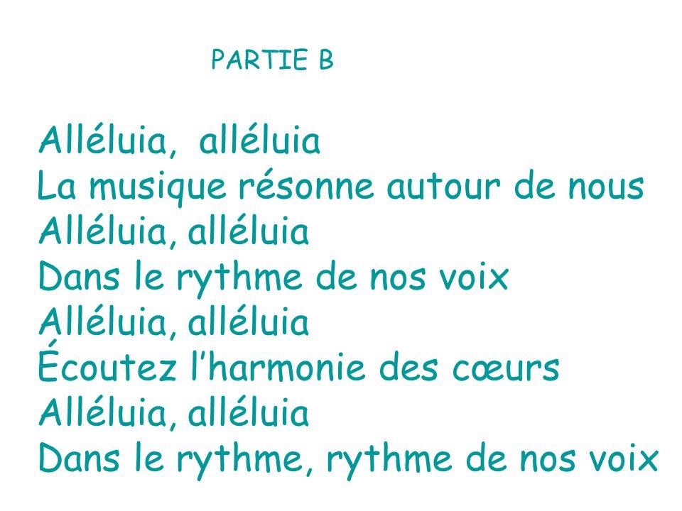 La musique résonne autour de nous Alléluia, alléluia