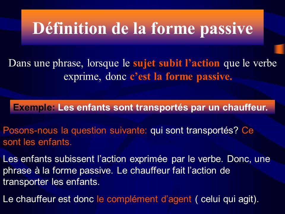 Définition de la forme passive