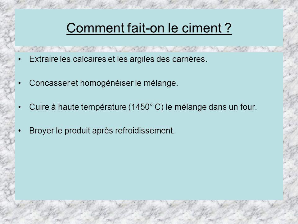 Les mat riaux bienvenue ppt t l charger - Comment on fabrique le ciment ...