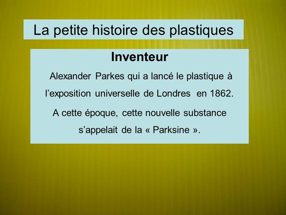 La petite histoire des plastiques
