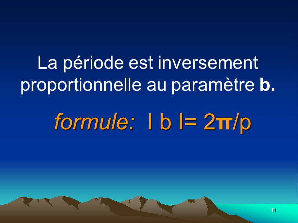 La période est inversement proportionnelle au paramètre b.