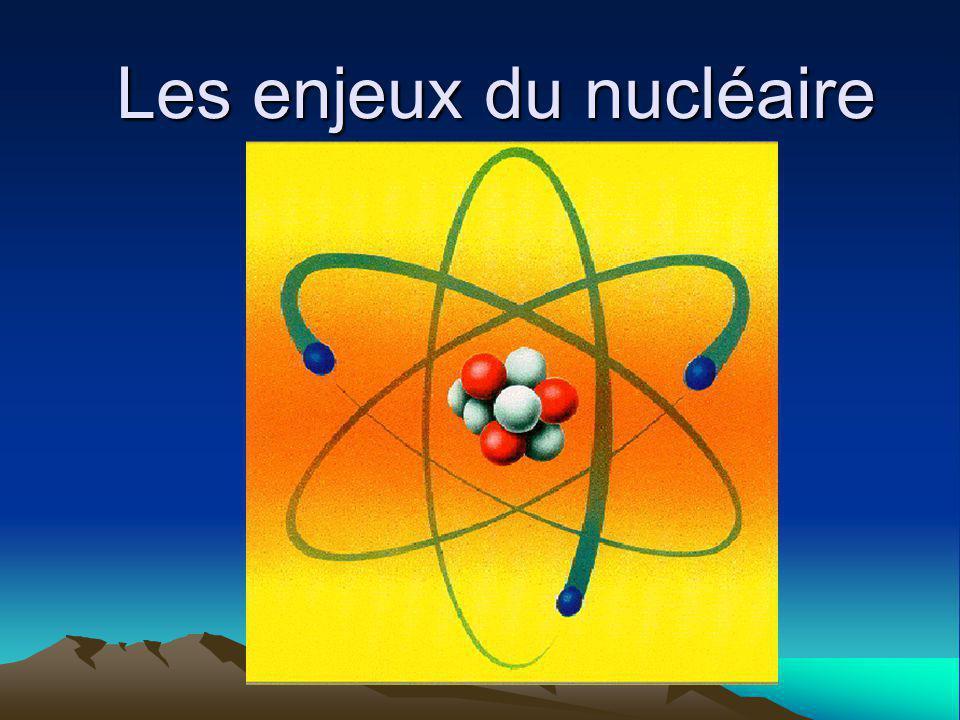 Les enjeux du nucléaire