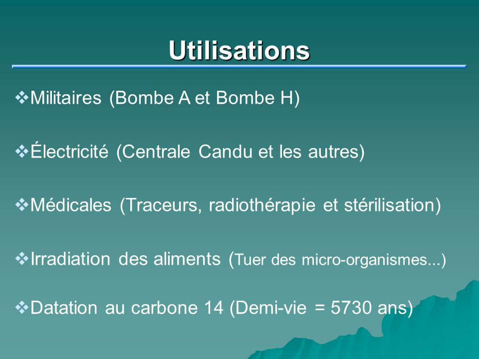 Utilisations Militaires (Bombe A et Bombe H)