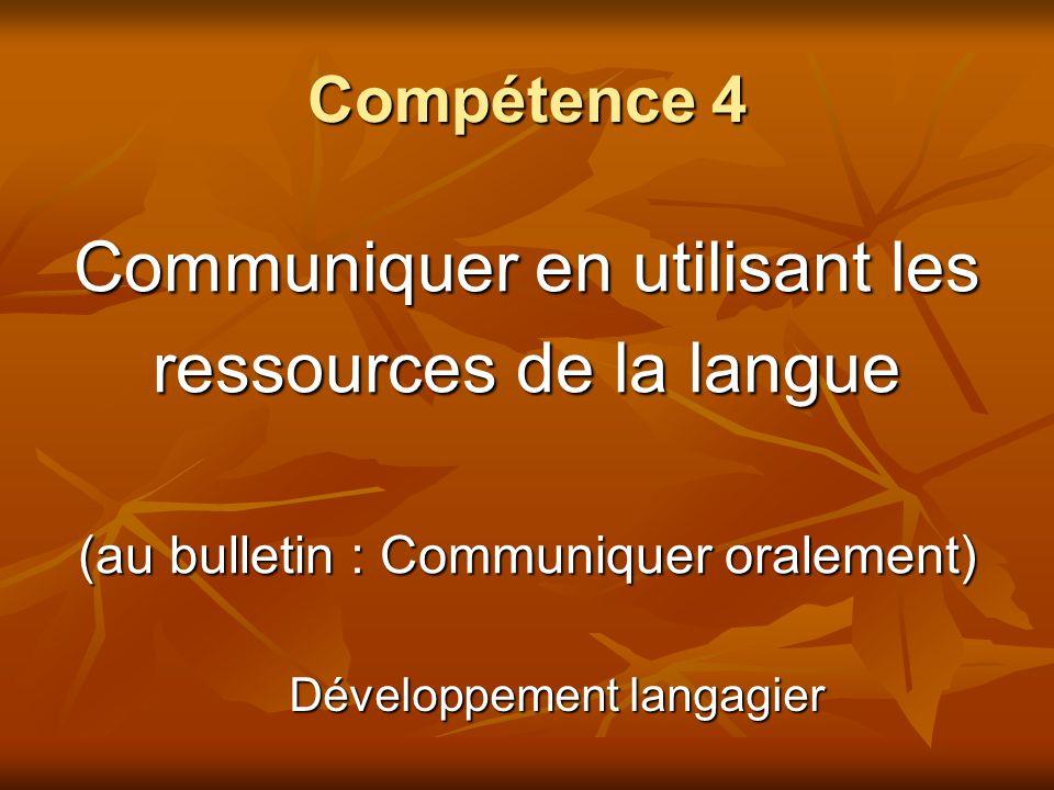 Communiquer en utilisant les ressources de la langue