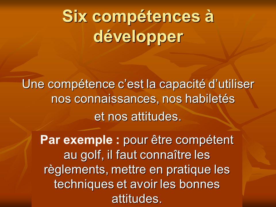 Six compétences à développer