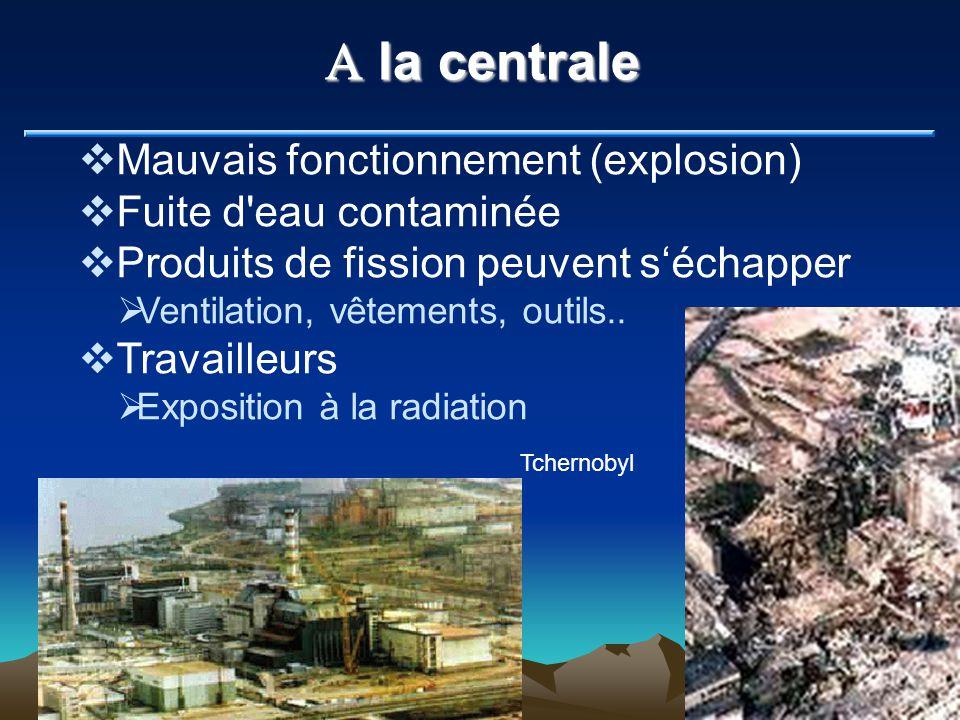 A la centrale Mauvais fonctionnement (explosion)