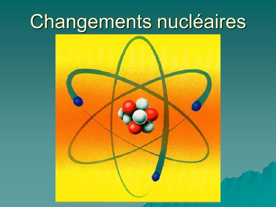 Changements nucléaires