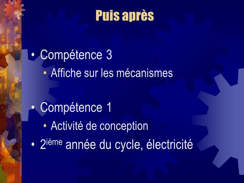 2ième année du cycle, électricité
