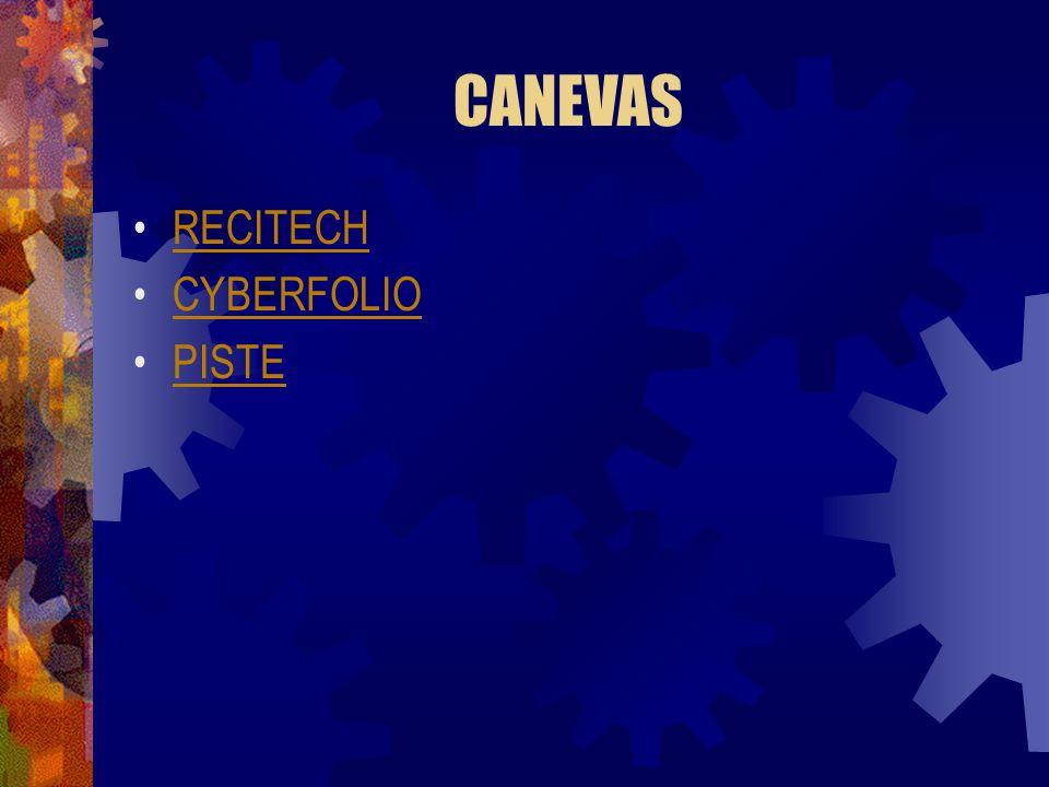 CANEVAS RECITECH CYBERFOLIO PISTE