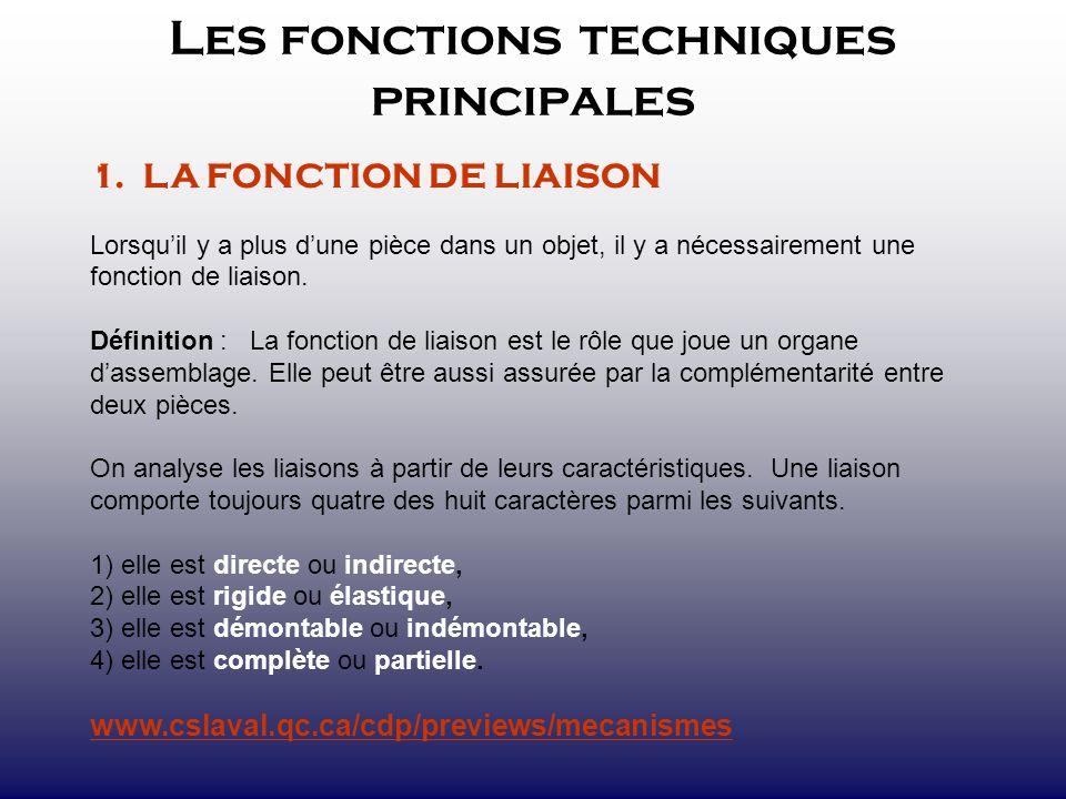 Les fonctions techniques principales