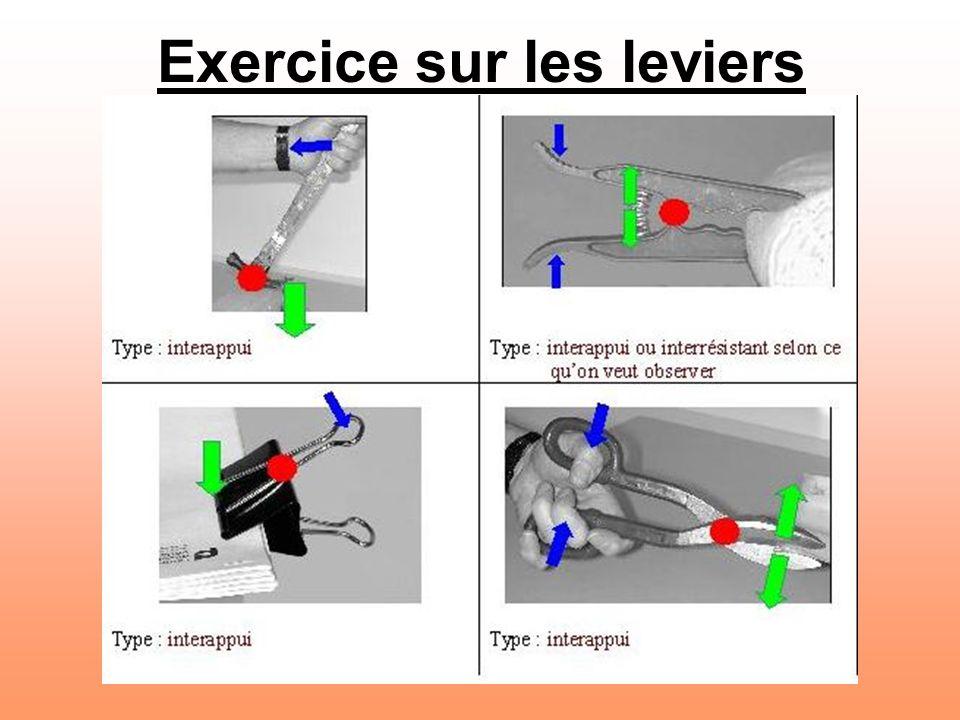 Exercice sur les leviers