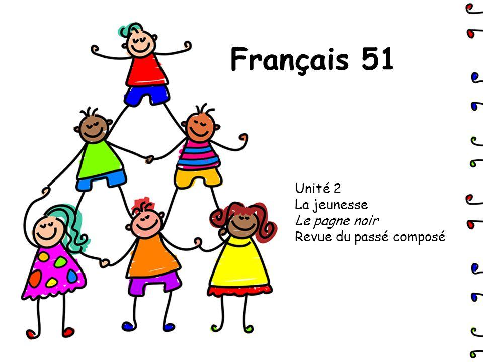 Unité 2 La jeunesse Le pagne noir Revue du passé composé