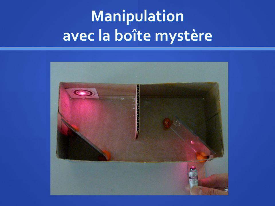 Manipulation avec la boîte mystère