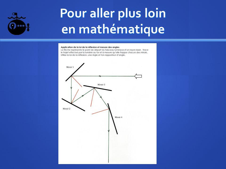Pour aller plus loin en mathématique