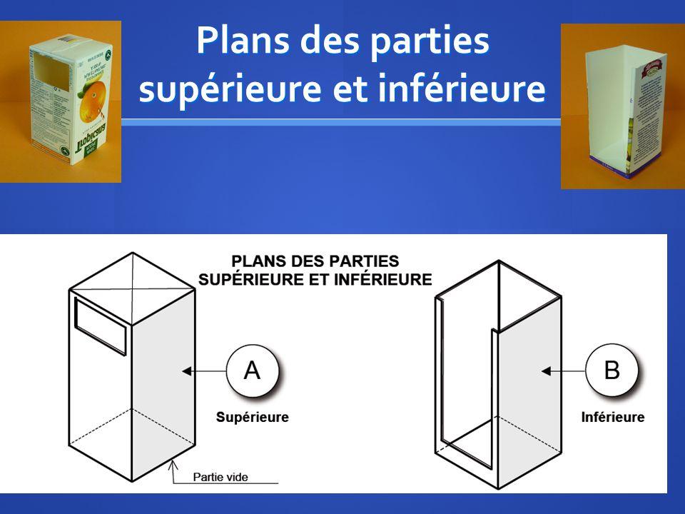 Plans des parties supérieure et inférieure