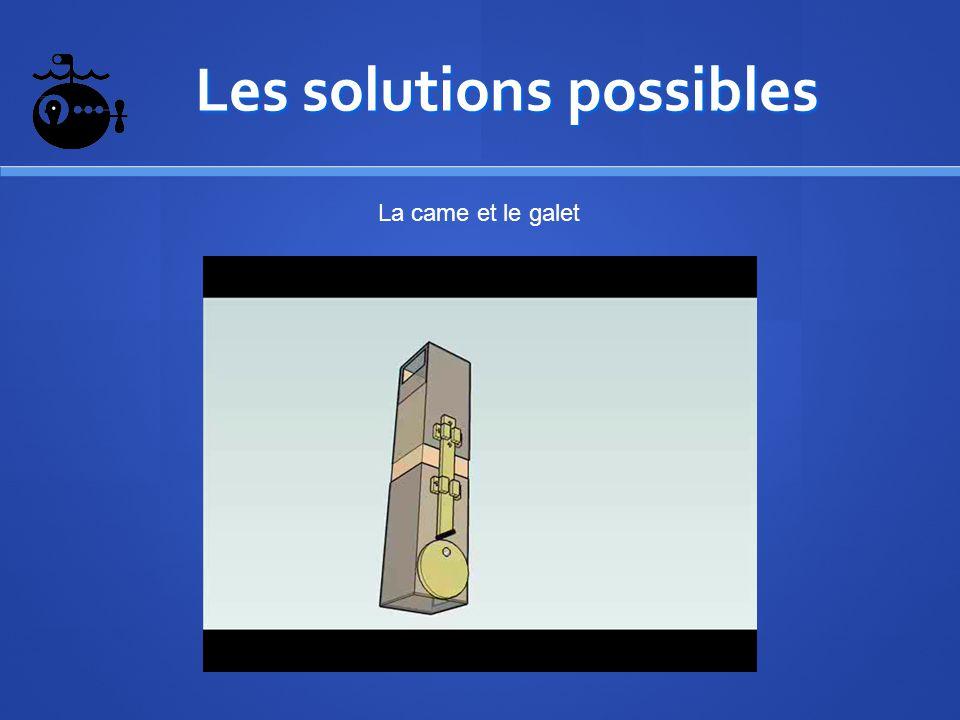 Les solutions possibles