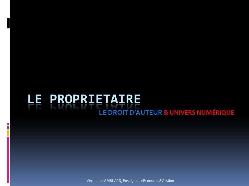 LE DROIT D'AUTEUR & UNIVERS NUMÉRIQUE