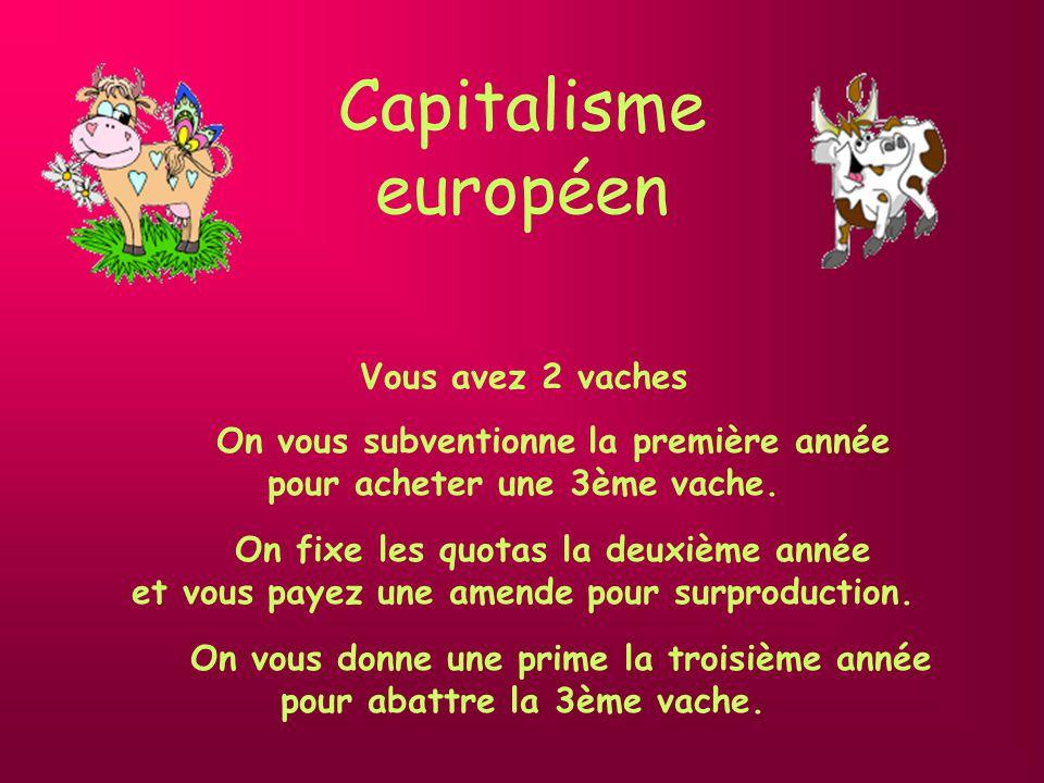 Capitalisme européen On vous subventionne la première année