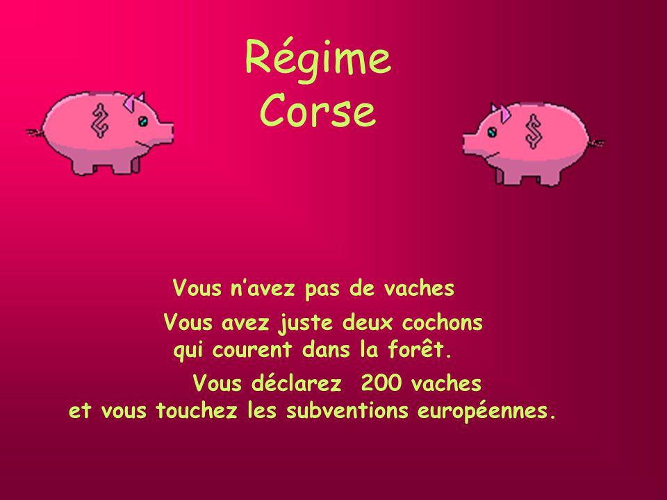 Régime Corse Vous avez juste deux cochons qui courent dans la forêt.
