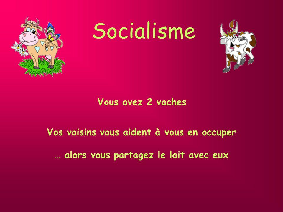 Socialisme Vos voisins vous aident à vous en occuper