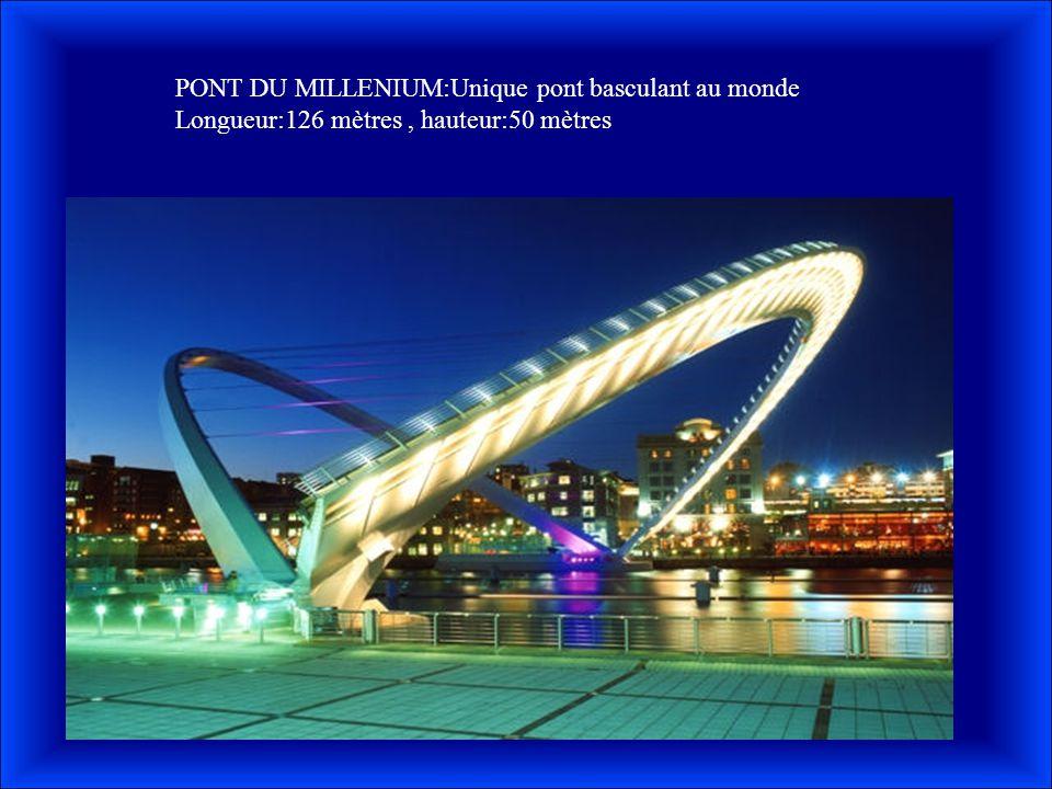 PONT DU MILLENIUM:Unique pont basculant au monde
