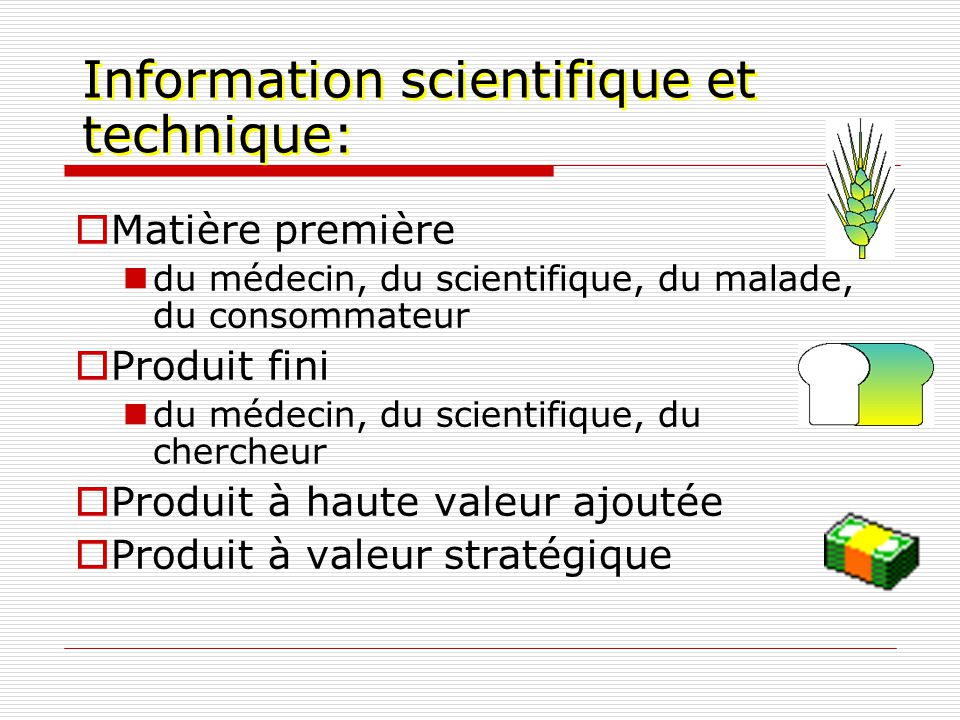 Information scientifique et technique: