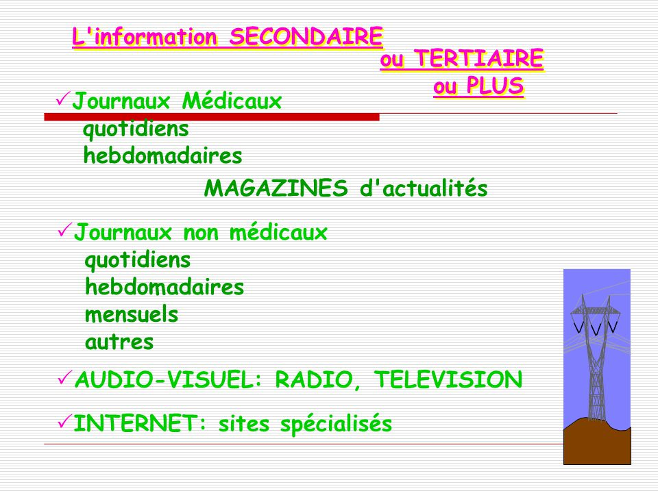 L information SECONDAIRE